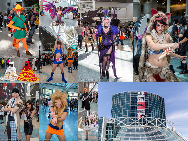 Anime Expo 2015 - Day 1 collage