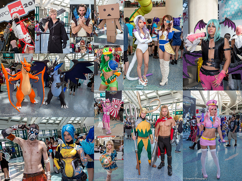 Anime Expo 2015 - Day 2 collage