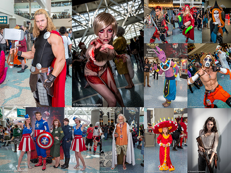Anime Expo 2015 - Day 3 collage