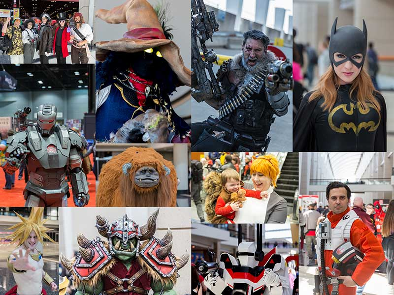 2016 C2E2 Cosplay Collage
