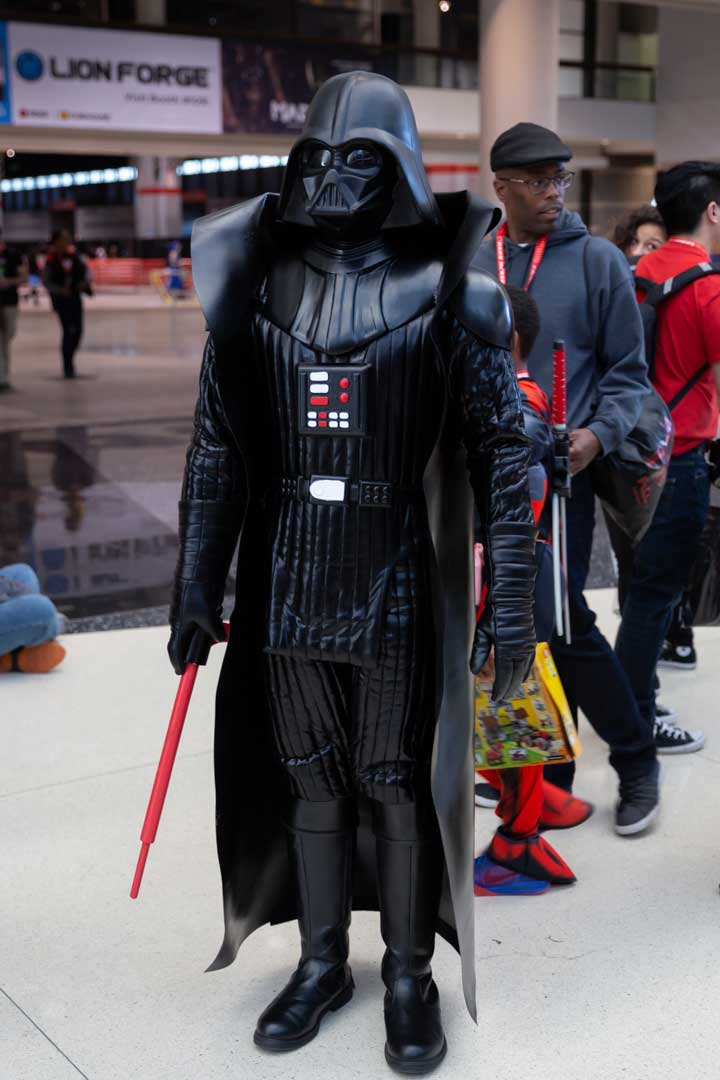 1977 Darth Vader toy cosplay