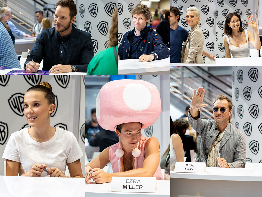 San Diego Comic Con 2018 Celebrities Collage