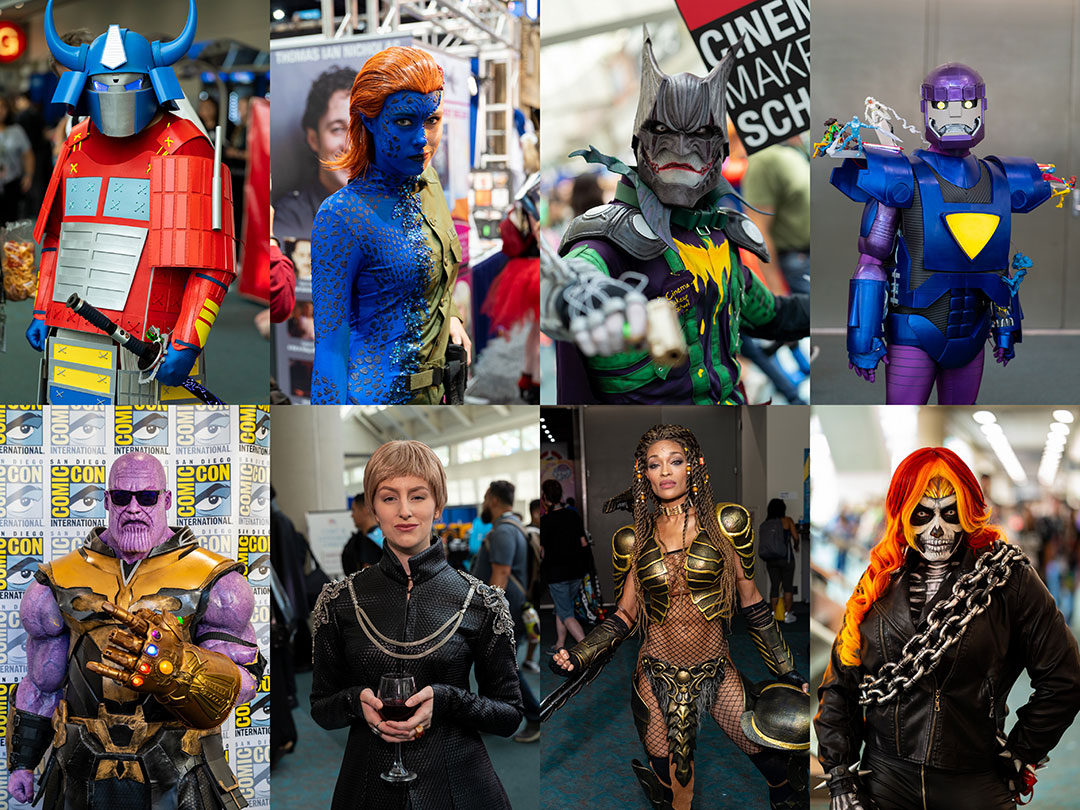 San Diego Comic Con 2018 Cosplay Collage