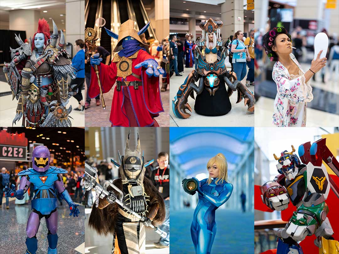 C2E2 Cosplay Collage