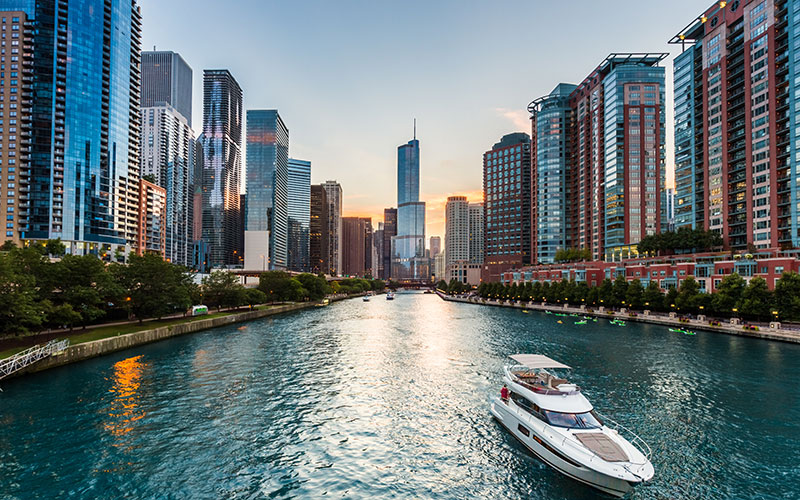 Chicago River from Lake Shore Drive