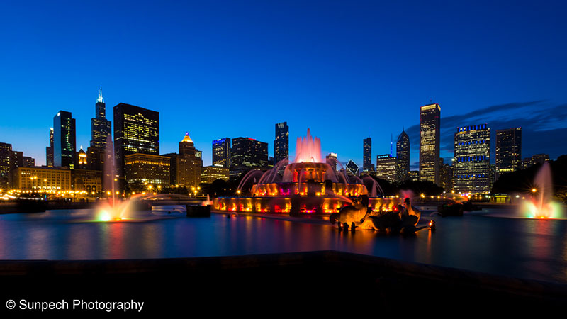 Chicago from Buckingham Fountain