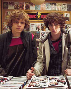 Evan Peters and Aaron Taylor-Johnson