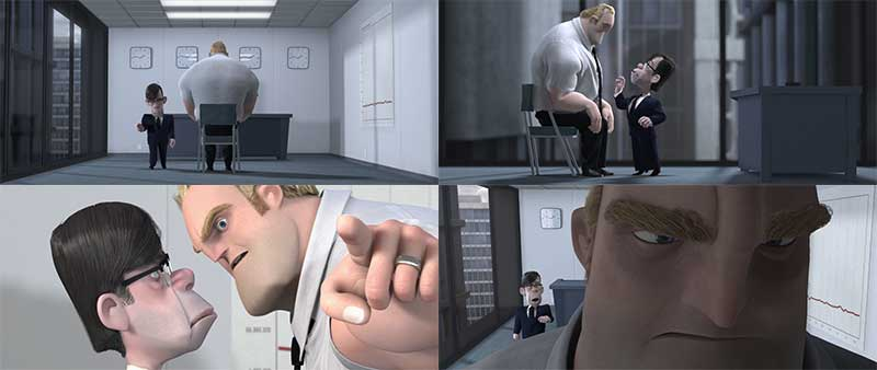 The Incredibles - Office Scene